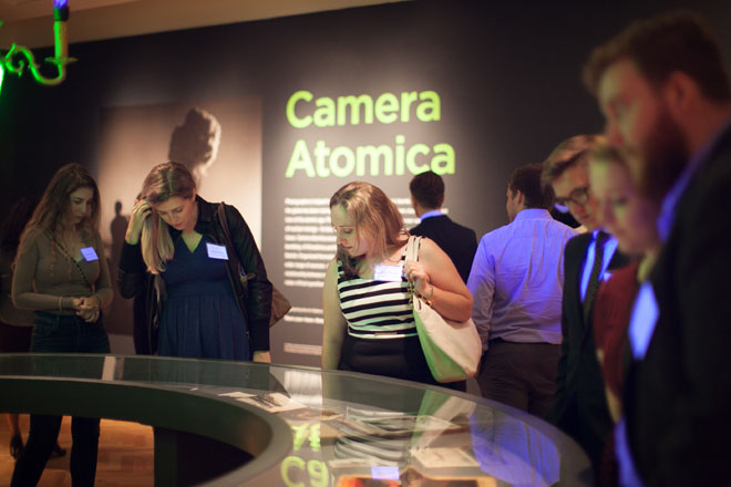 Members at the Camera Atomica exhibit