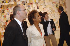 Michaëlle Jean, Former Governor General of Canada, visiting the exhibition with director and CEO Matthew Teitelbaum, 2006