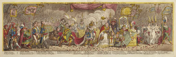 James Gillray. The Grand Coronation Procession, 1805