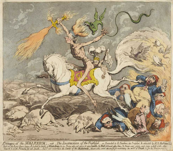 James Gillray. Presages of the Millenium, 1795