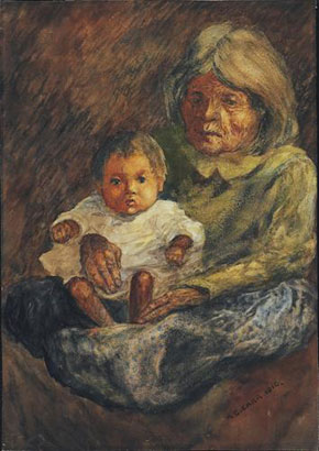 Emily Carr, Indian Grandmother, 1910