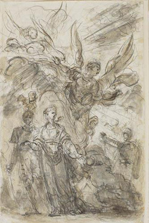 Jean-Honoré Fragonard, Charlemagne Leads Angelica away from Roland