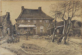 Vincent van Gogh, The Vicarage at Neunen: Seen from the Back, with the Artist's Studio on the Right, c 1884