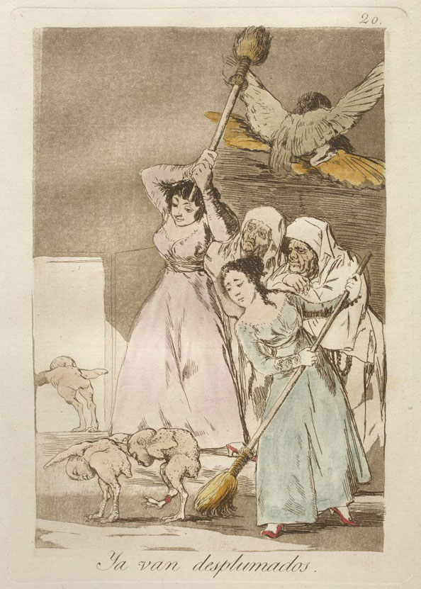 Francisco Goya y Lucientes. There they go plucked (i.e. fleeced), 1799
