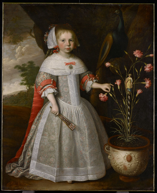 Jan Albertsz. Rotius, Portrait of a Young Girl with Carnations, around 1663