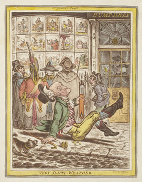 James Gillray. Very Slippy Weather, 1808