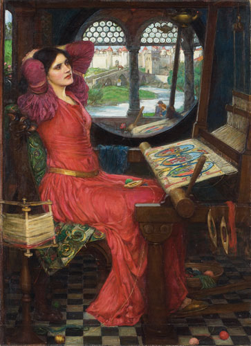 John William Waterhouse, I am half sick of shadows,  said The Lady of Shalott (Alfred, Lord Tennyson, The Lady of Shalott, Part II), 1915