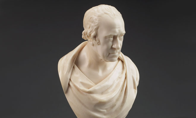 Benjamin Cheverton, Bust of James Watt, engineer (1736-1819) (detail), 1842