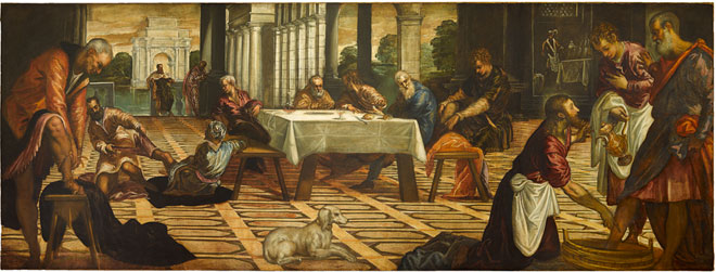 Jacopo Tintoretto, Christ Washing His Disciples' Feet, c. 1545