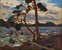 "Tom Thomson (Canadian, 1877 – 1917), <em>Sketch for ""The West Wind""</em>, 1916, oil on wood panel. Gift from the J.S. McLean Collection, Toronto, 1969, Donated by the Ontario Heritage Foundation, 1988."