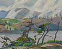 Franklin Carmichael (Canadian, 1890 – 1945), <em>Cranberry Lake</em>, 1936, oil on panel.  Collection of the Toronto District School Board. Acquired by Lawrence Park Collegiate Institute.