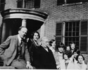 Arthur Lismer (Canadian, 1885 – 1969), Lismer in front of The Grange with Gallery School instructors, photographic print.