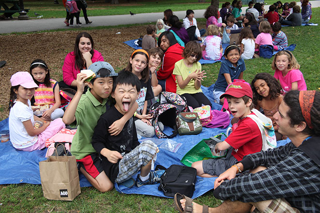 Kids at a picnic