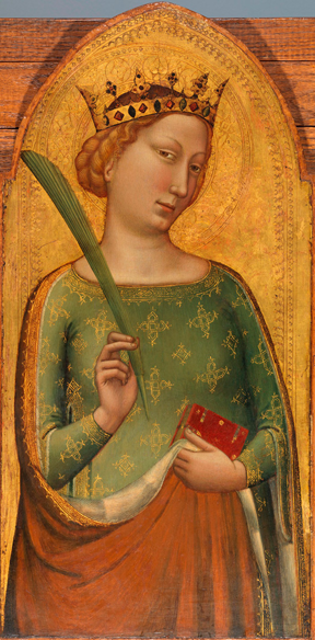 Bernardo Daddi, A Crowned Virgin Martyr