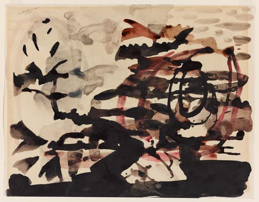 Paul-Emile Borduas, La Plante Heroique, 1950
