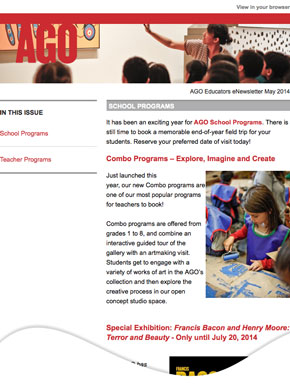 AGO Educators' Enews