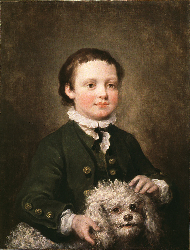 William Hogarth, Portrait of a Boy in a Green Coat, around 1756
