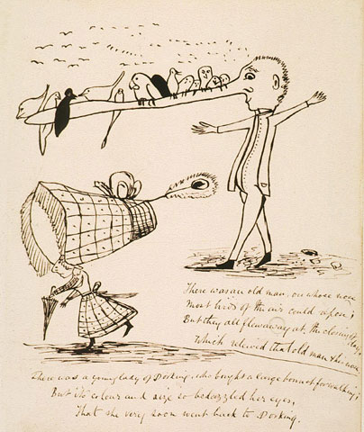 Edward Lear, There was an old man on whose nose..., date unknown