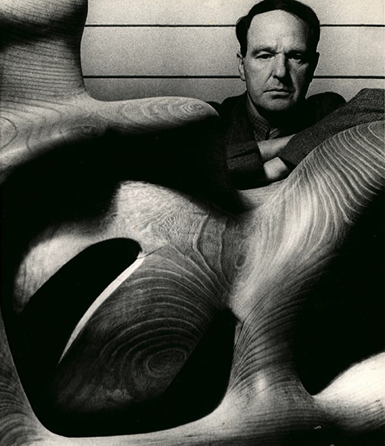 Bill Brandt, Henry Moore in his Studio at Much Hadham, Hertfordshire, 1940