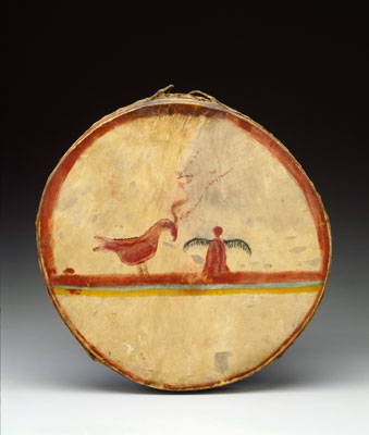 Chippewa maker unknown, Drum, ca. 1840