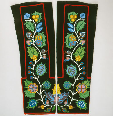 Chippewa maker unknown, Leggings, ca. 1885–1900