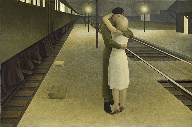 Alex Colville, Soldier and Girl at Station