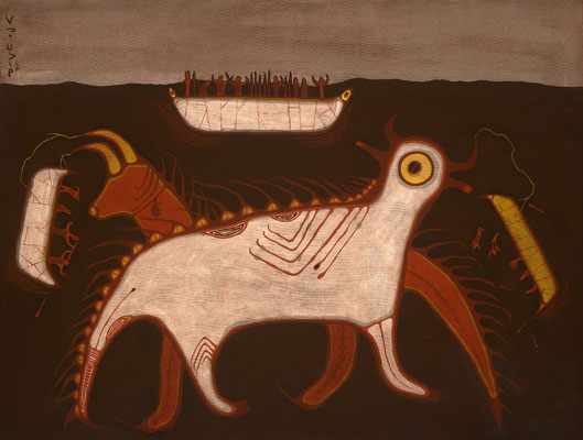 Blake Debassige (Ojibwe), One Who Lives under the Water, ca.1978