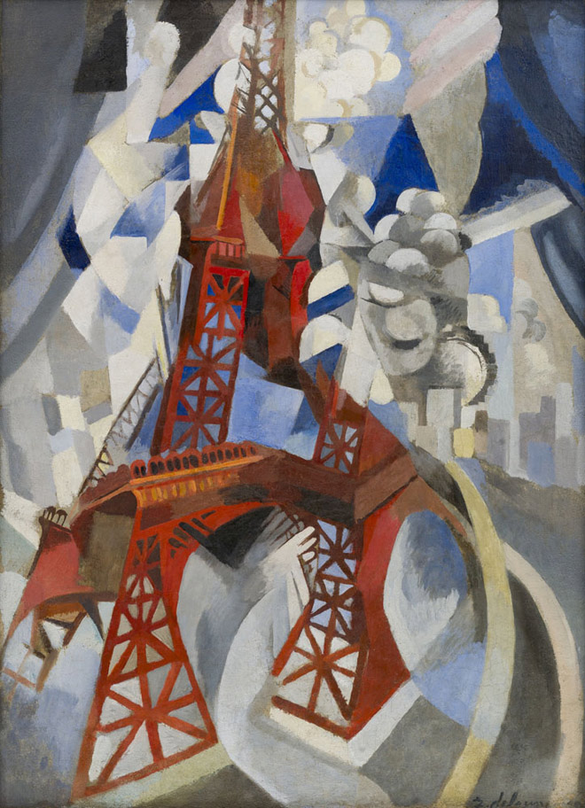 Robert Delauney, Red Eiffel Tower