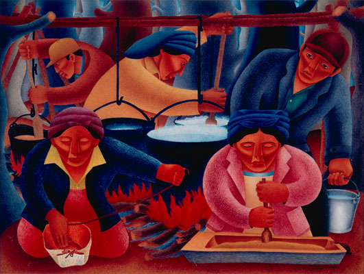 Patrick DesJarlait (Ojibwe), Maple Sugar Time, 1946