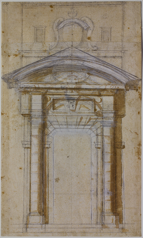 Michelangelo, Study for the Porta Pia in Rome
