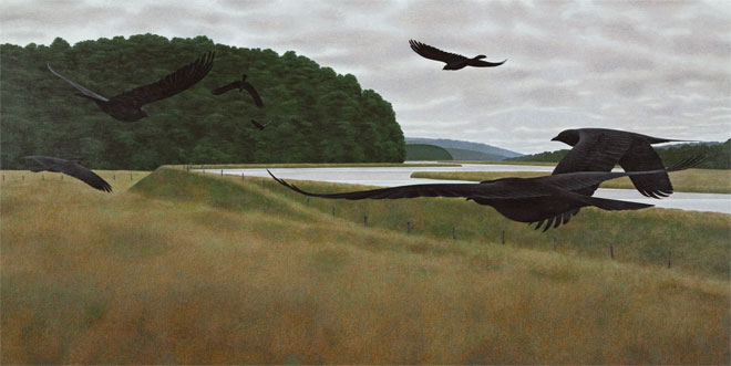 Alex Colville, Seven Crows, 1980