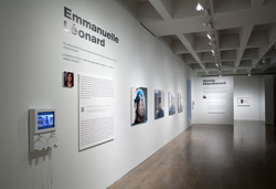 Emmanuelle Léonard, installation view:<br /> <em>Citizens, protest, March 15, 2009</em>, 102 cm x 90 cm inkjet prints.