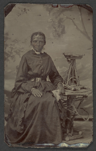 Tintype of unidentified woman