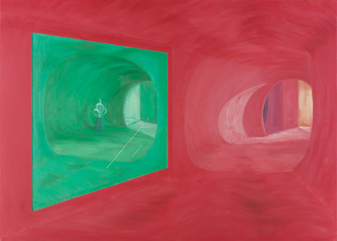 Shirley Wiitasalo, Green Mirror with Sculpture, 1986