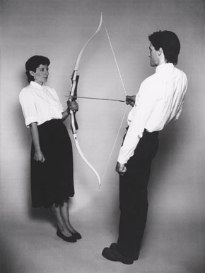 Marina Abramovic and Ulay, Rest Energy, Performance for Video, August 1980