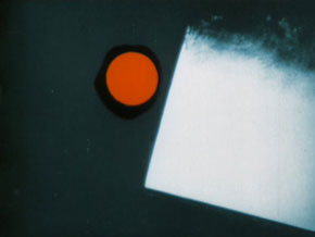 Still from the reconstructed color version of Walter Ruttmann's Lichtspiel opus 1, 1921
