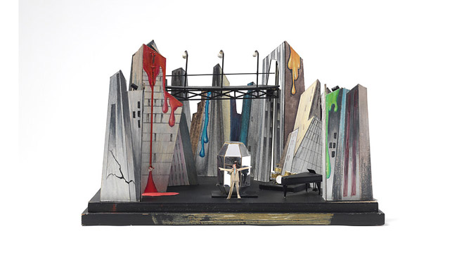 Stage set model for the Diamond Dogs tour