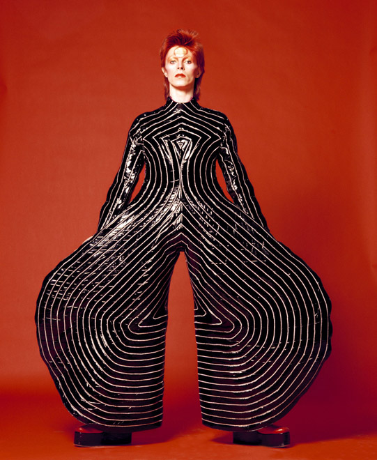 Striped bodysuit for the Aladdin Sane tour