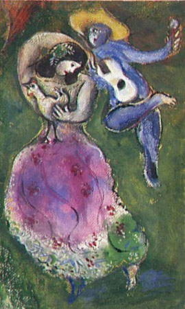 Marc Chagall. Couple of Dancers, 1941 (Couple de danseurs, 1941).