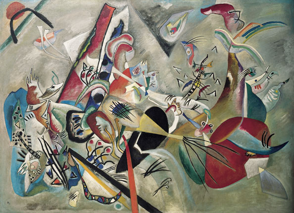 Vasily Kandinsky. Im grau, 1919 (In the Grey, 1919).