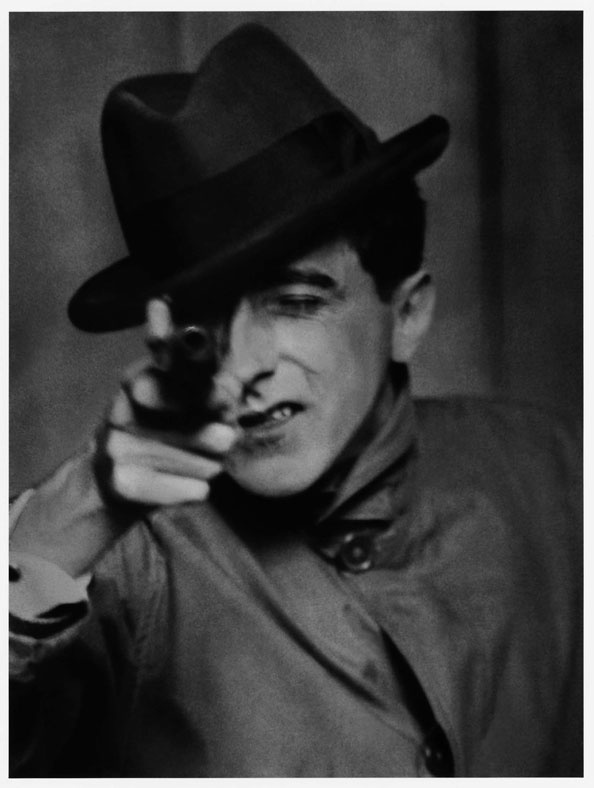 Berenice Abbott, Cocteau with Gun, 1926