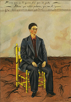 Frida Kahlo (1907-1954), Autorretrato con pelo cortado,1940  (Self-Portrait with Cropped Hair, 1940)