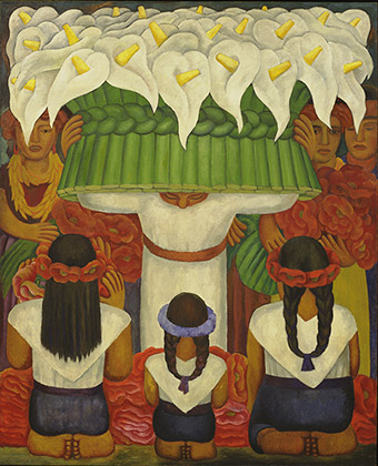 Diego Rivera (1886-1957), Flower Festival: Feast of Santa Anita, 1931
