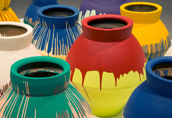 Ai Weiwei, Installation view of Coloured Vases, 2007–2010