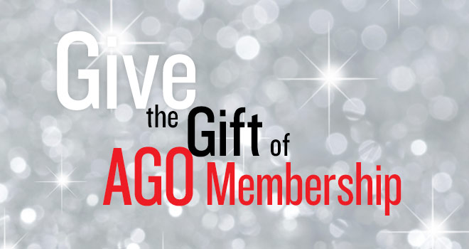 Give the Gift of AGO Membership