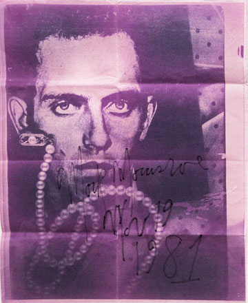 Mark Morrisroe, Untitled (David Wojnarowicz), 1981