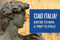Ciao Italia! Enter to win a trip to Italy