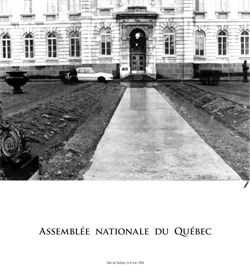 Emmanuelle Léonard, <em>National Assembly of Quebec</em> (cover), 2009, Newspapers, 12 pages, 32 cm x 36 cm each, 1000 Free copies