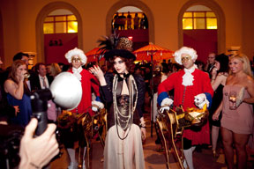 The Marchesa Casati and her entourage at Massive Party 2011