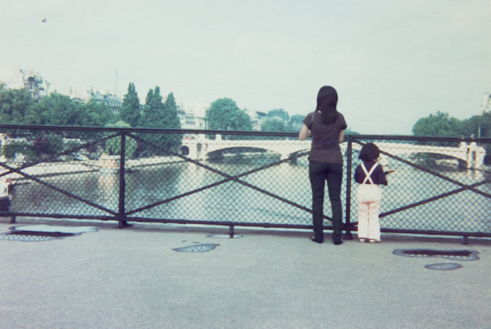 Chino Otsuka, <em>1975 and 2009, Pont des Arts, France</em> from the series <em>Imagine Finding Me</em>, 2009, chromogenic print, 305 mm x 406 mm